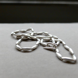Kerry Seaton Silver rice grain necklace
