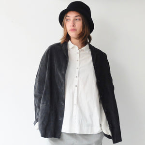 (AW20)  A.B Apuntob Baby Cord Jacket in charcoal