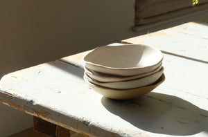 Jennifer Morris Extra Small neutral Bowls with white interior