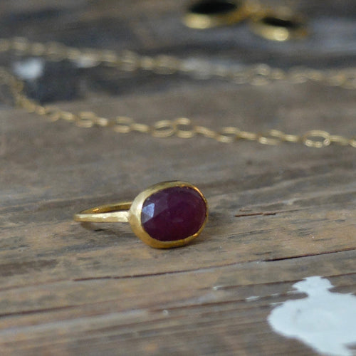 Ram Rijal Ruby and 22ct Gold Ring