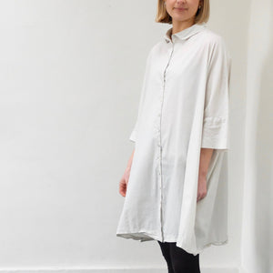 (SS21) Album Di Famiglia Oversized Dress Chalk