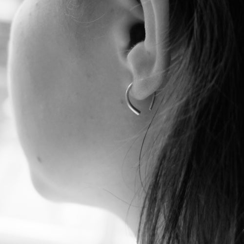 Kerry Seaton Silver Forged Refined Ear Hoops