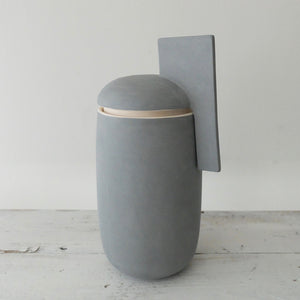 Derek Wilson large tall blue porcelain Container
