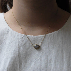 Kerry Seaton 18ct Yellow Gold and Grey Moonstone Pendant