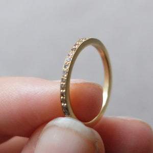 Kerry Seaton 18ct Yellow Gold and Brown Diamond Pave Set Ring