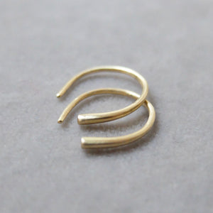 Kerry Seaton 18ct Yellow Gold Forged Refined Hoops