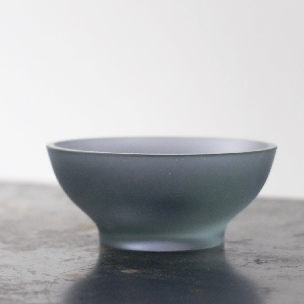 Celia Dowson Rhossili Glass small bowl in ocean blue