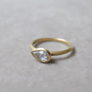 Kerry Seaton 18ct Yellow Gold and rose cut Diamond Ring