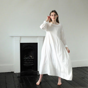 (SS20) Injiri hand woven and embroidered muslin dress 71