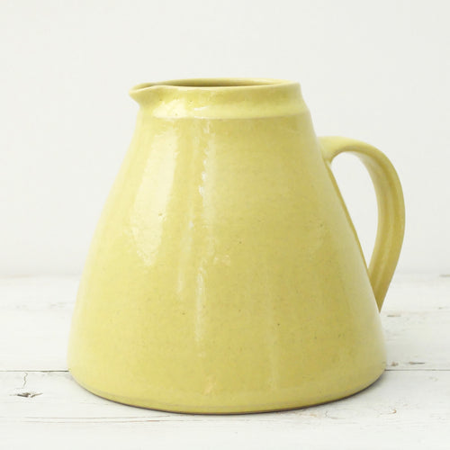 Nicola Tassie Large fat Jug in Lime Yellow