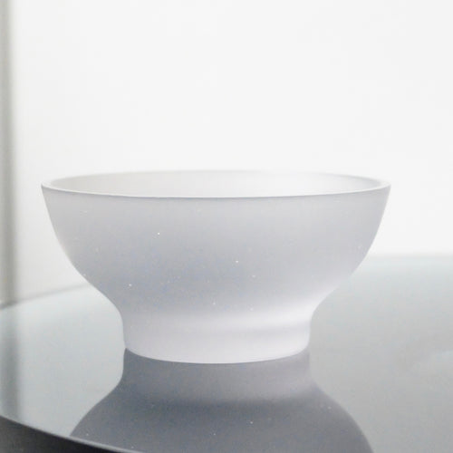Celia Dowson Rhossili Glass small bowl in misty grey