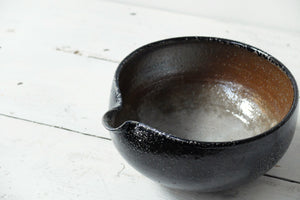 Jack Doherty Soda Fired Stoneware Large Pouring Bowl (LIGHT INTERIOR)