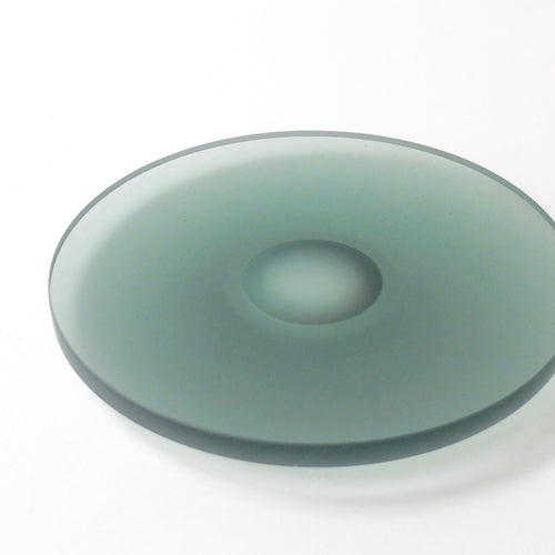 Celia Dowson Rhossili Glass medium plate in Juniper green