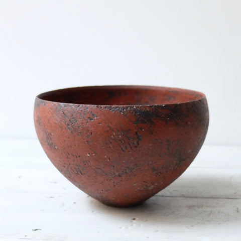 Barry Stedman Thrown Vessel white with black, dark blue grey and a touch of bright blue