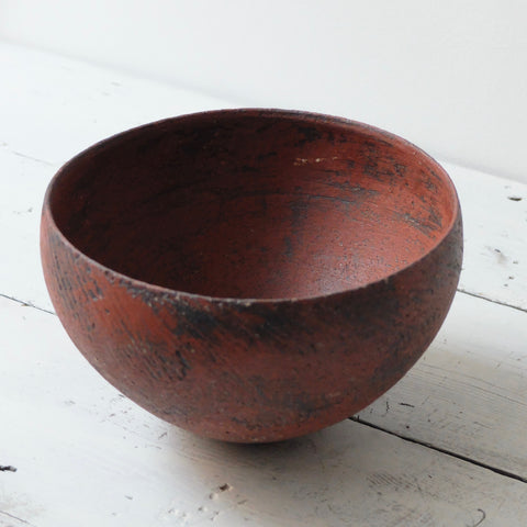 Barry Stedman Thrown Vessel white with deep blue grey and a touch of ochre