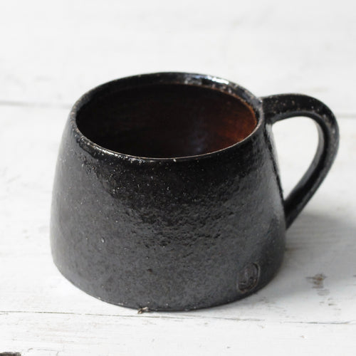 Jack Doherty Soda Fired Stoneware shallow Espresso Cups (LIGHT INTERIOR)