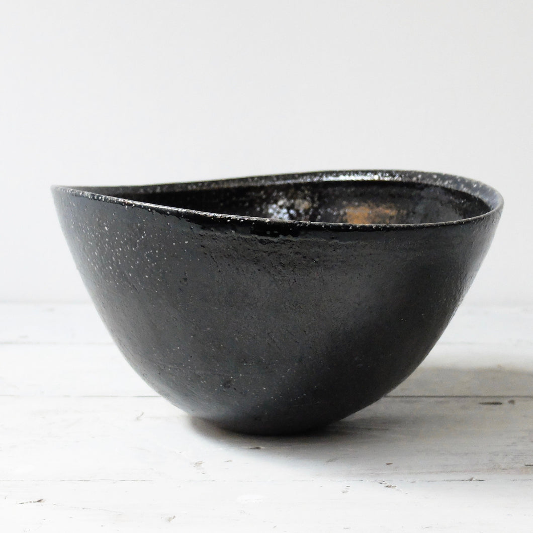 Jack Doherty Soda Fired Stoneware Large Oval Bowl
