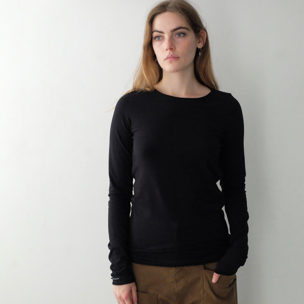 Album Di Famiglia Basic T-Shirt Long Sleeve Black