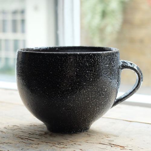 Jack Doherty Soda Fired Stoneware Large Teacup (LIGHT INTERIOR)
