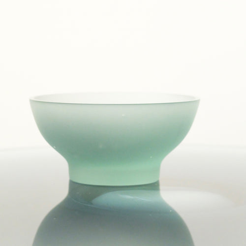 Celia Dowson Rhossili Glass small bowl in Juniper green