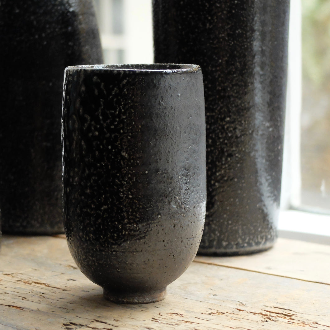 Jack Doherty Soda Fired Stoneware Small Vase (B)