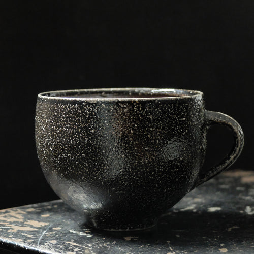 Jack Doherty Soda Fired Stoneware Large Teacup (DARK INTERIOR)