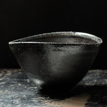 Jack Doherty Soda Fired Stoneware Small Oval Bowl (dark interior)
