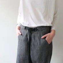 Album Di Famiglia Trousers And Belt slate black