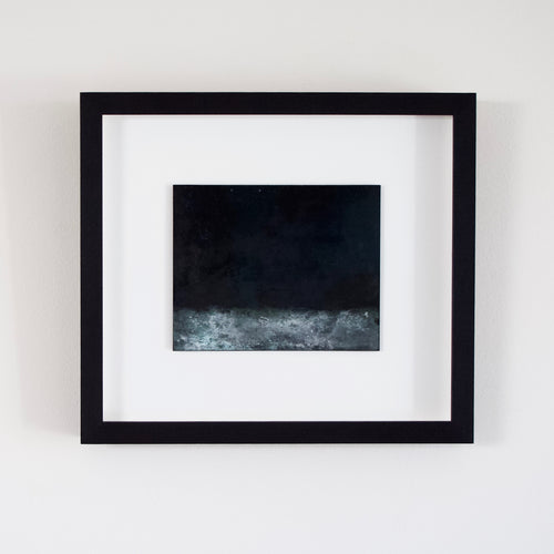 Josephine Cottrell 'Moonlight on Water' Copper 17 Framed