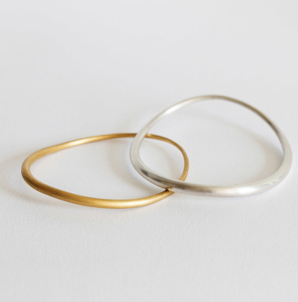 Kerry Seaton Forged Refined Silver Bangle