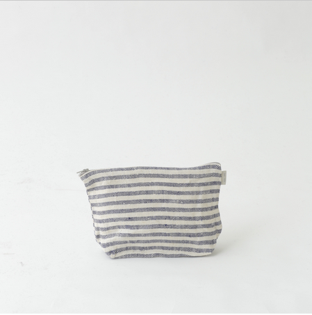 Fog Linen Striped Pouch