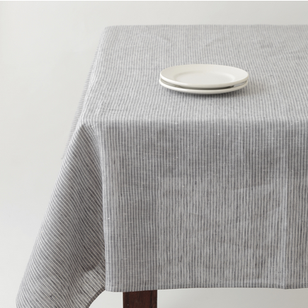 Fog Linen Striped Table Cloth