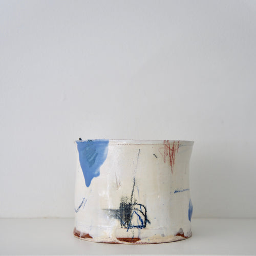 Barry Stedman Thrown Vessel with colours