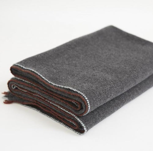 Teixidor Cashmere Jazz Throw Dark Grey