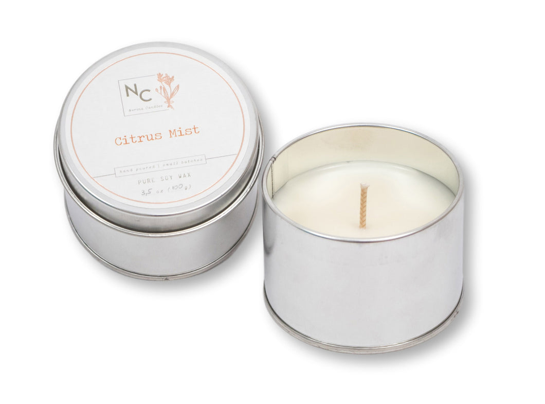 Citrus Mist Scented Scented Tin Candle | 3.5oz (100g)