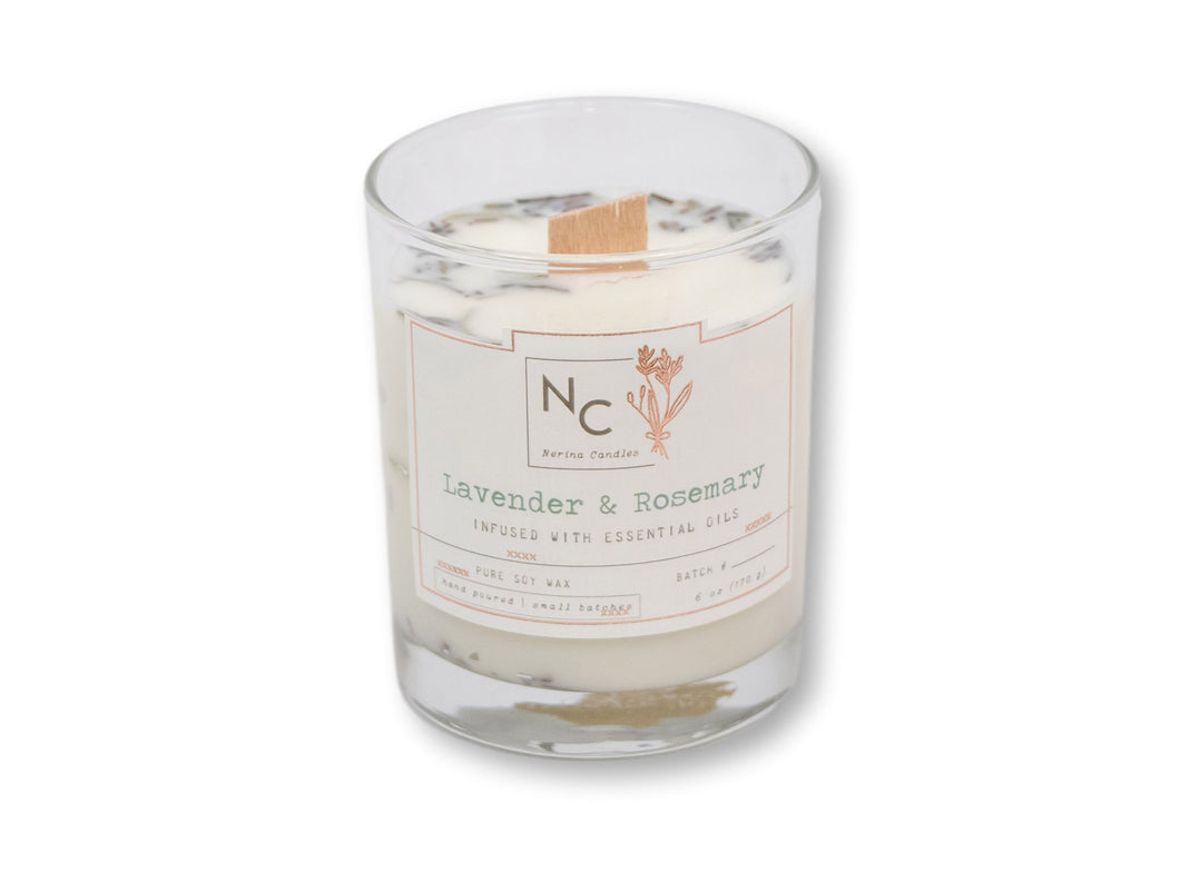Lavender & Rosemary Scented Jar Candle | 6oz (170g)