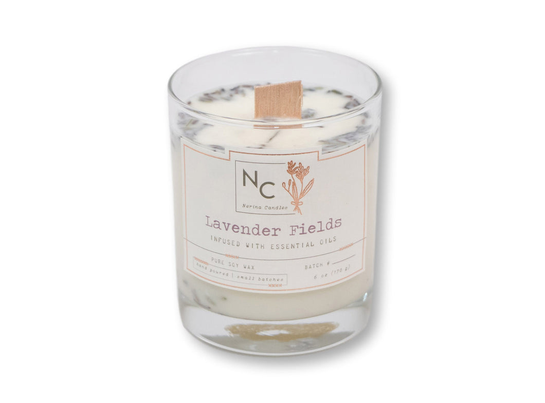 Lavender Fields Scented Jar Candle | 6oz (170g)