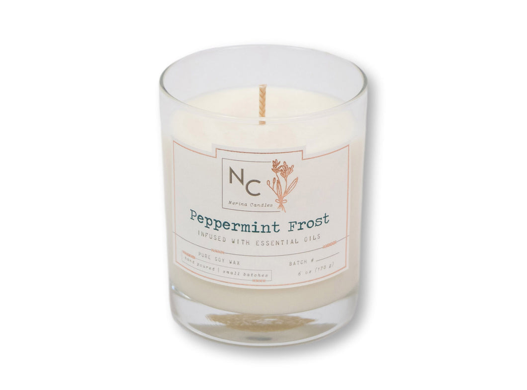 Peppermint Frost Scented Jar Candle | 6oz (170g)