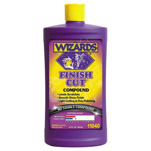 WIZARDS Finish Cut No Swirls Compound, Available in Two Sizes-Paint Correction Products-WIZARDS-Quart-11040