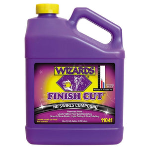WIZARDS Finish Cut No Swirls Compound, Available in Two Sizes-Paint Correction Products-WIZARDS-Gallon-11041