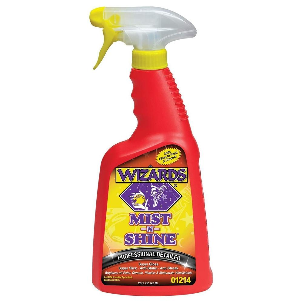 WIZARDS Mist-N-Shine Professional Detailer, Available in Two Sizes-Wax, Polish and Compound-WIZARDS-22 oz-1214