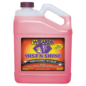WIZARDS Mist-N-Shine Professional Detailer, Available in Two Sizes-Wax, Polish and Compound-WIZARDS-Gallon-1217
