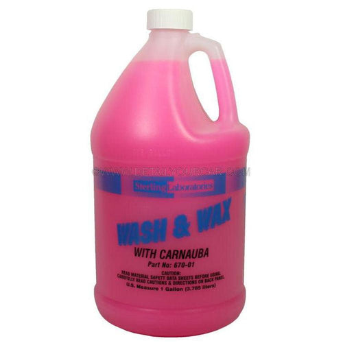 Sterling Laboratories Car Wash and Wax-Automotive Detailing Chemicals-Sterling Laboratories-1 Gallon-670-01