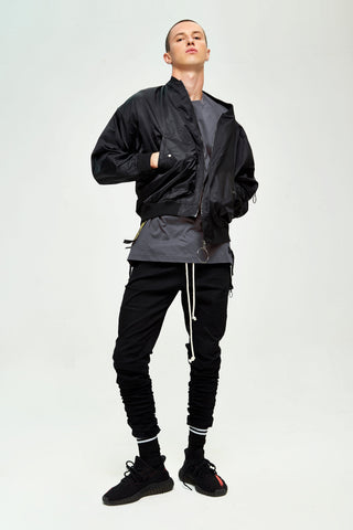 CAMOUFLAGE BLACK JOGGER PANTS