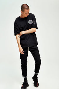 PANTHER BLACK OVERSIZED T-SHIRT