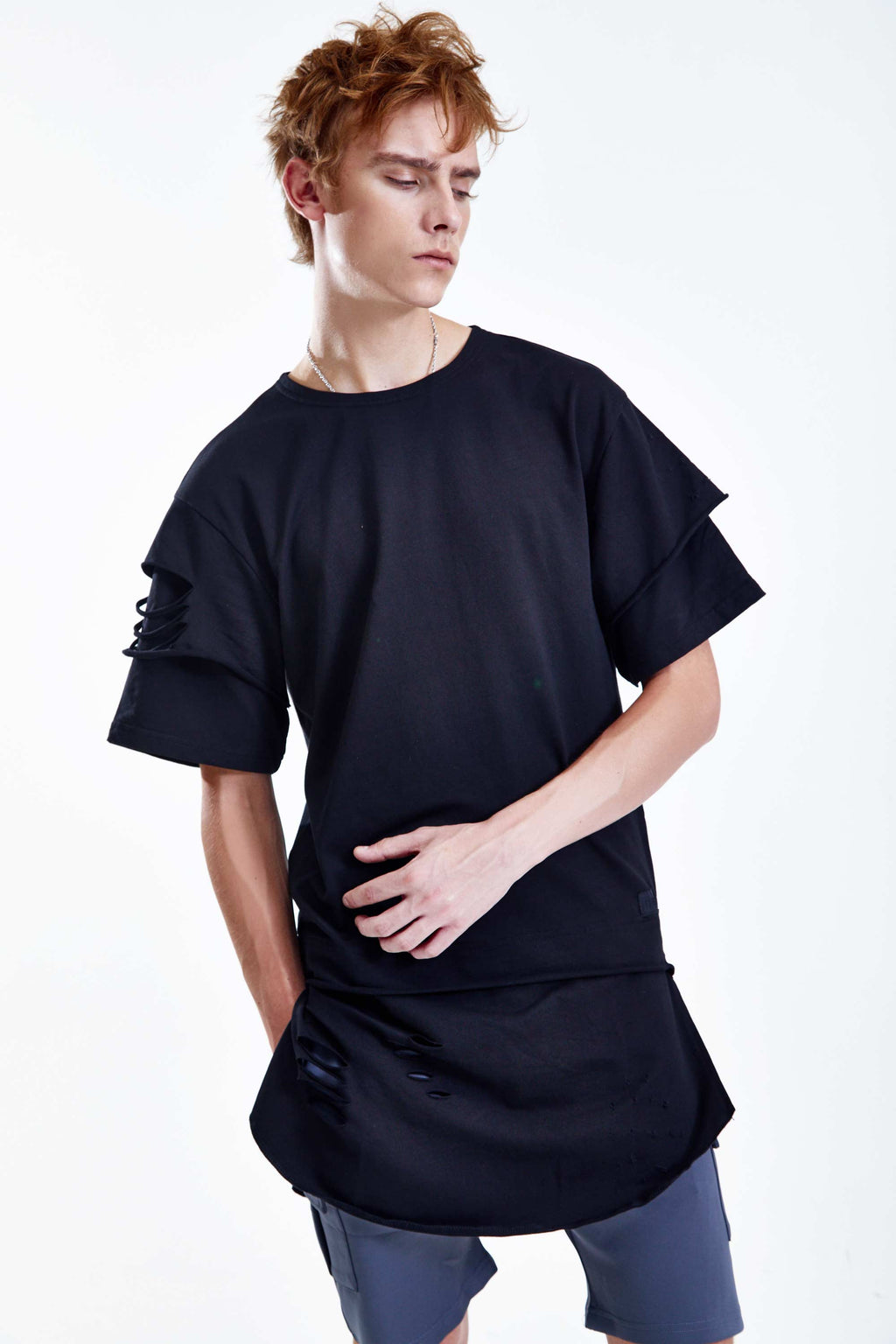 BAMBOO BLACK LONG T-SHIRT