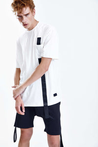 LOCKED WHITE OVERSIZED T-SHIRT