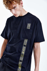 LOCKED BLACK OVERSIZED T-SHIRT