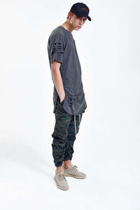 BAMBOO DARK GREY LONG T-SHIRT