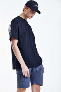 WINGS BLACK OVERSIZED T-SHIRT